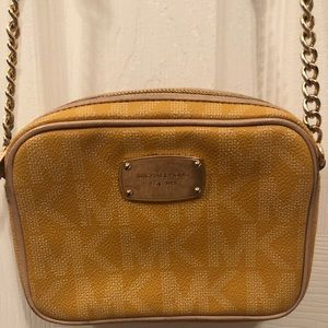 Authentic Michael Kors Logo Crossbody Bag